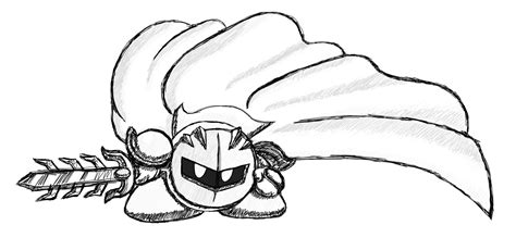 meta knight coloring page coloring home