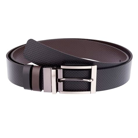golf belts for reversible belt buckles perforated