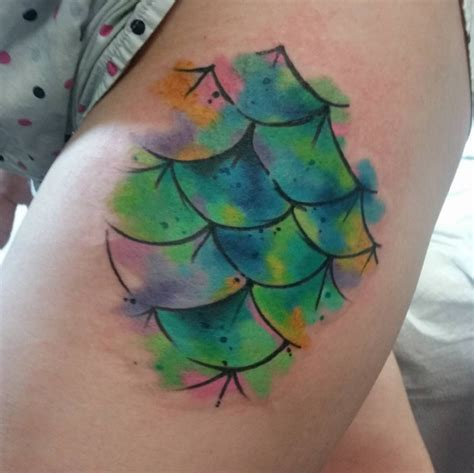 mermaid watercolor tattoo 46 mermaid scale tattoos ideas