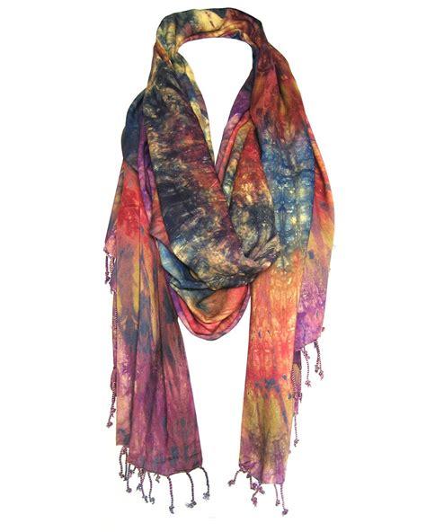 maisha collective fair trade takuma tie dye cotton scarf