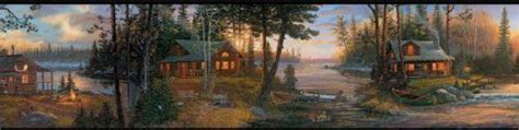 Tony Get Cozy South Of The Border by Cozy Winter On The Lake Cabin W Black Edge
