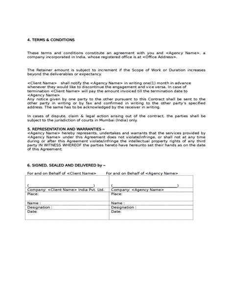 marketing services agreement template sle social media marketing agreement free