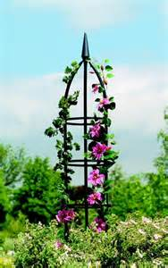 Frame For Climbing Plants - gardman traditional metal garden obelisk