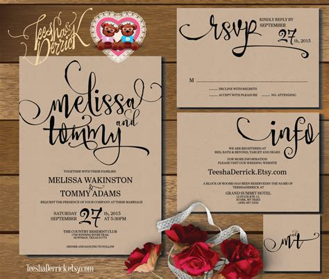 Wedding Invitations To Print by Printable Wedding Invitation Suite W0346 Consists Of