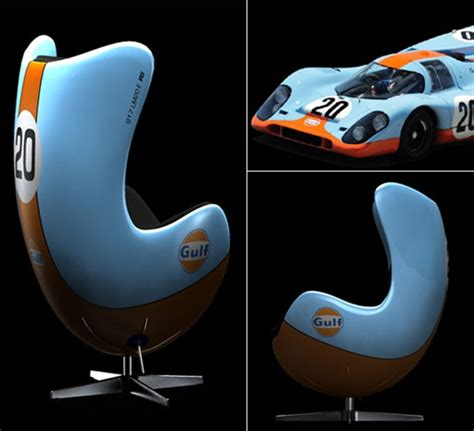 racing emotion chairs inspired  famous racing cars