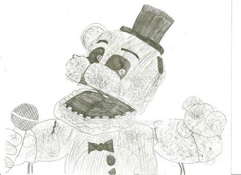 Fnaf 1 Sketches by Fnaf 3 Phantom Freddy Jumpscare Drawing By Cooldud111 On