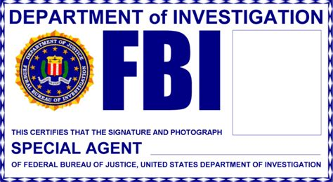 fbi id template the x files fbi badge id cards uk