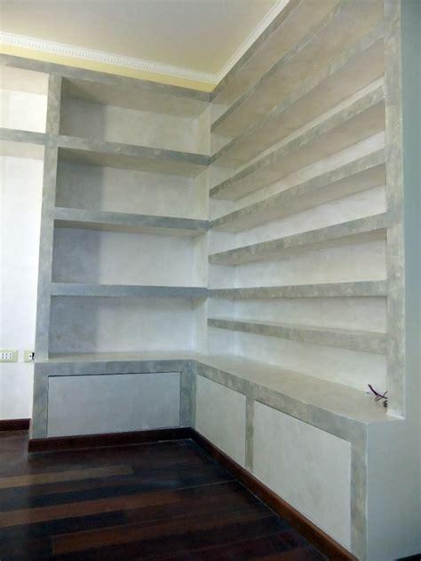 libreria cartongesso e legno foto libreria porta cd angolare in cartongesso con