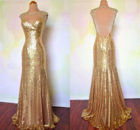 ebay evening dresses sexy backless evening dresses mermaid gold sequined