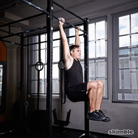 hanging knee raises exercise   workout trainer  skimble