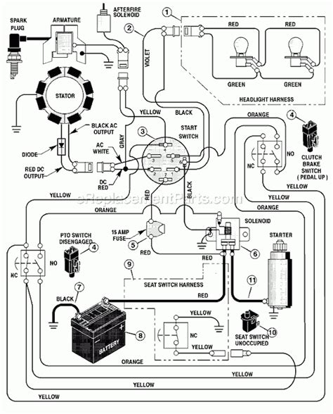 craftsman lt 1000 wiring diagram wiring diagram and