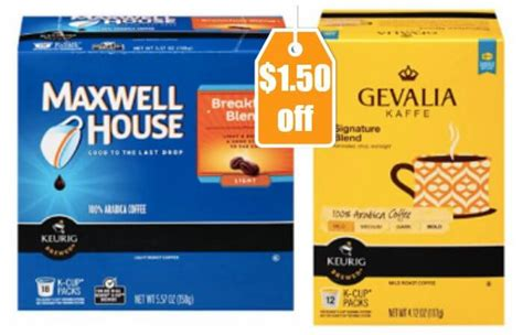 printable maxwell house coupons new 1 50 1 maxwell house gevalia or mccafe k cups coupon