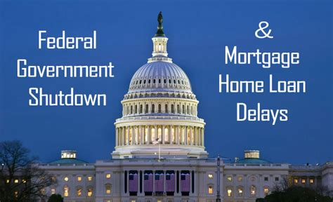 federal government housing loans the government shutdown and home loans for homebuyers