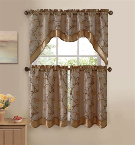 curtain setting kitchen curtain sets kitchen and decor