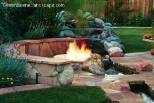 Back yard fire pit landscaping ideas