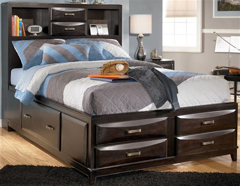 ashley furniture bed storage bed queen livingston queen storage bed main