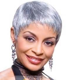gray hair pieces for american 8 inch simple short wavy gray african american lace wigs
