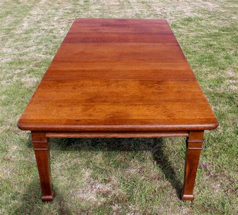 Extending Oak Dining Table Seats 12 Arts Crafts Oak Extending Dining Table 10ft Seats 12 Antiques Atlas
