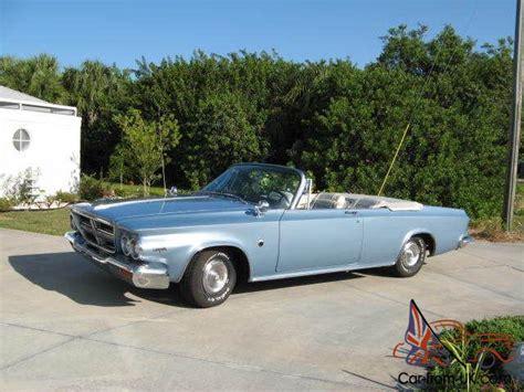 chrysler 300k 1964 chrysler 300k convertible