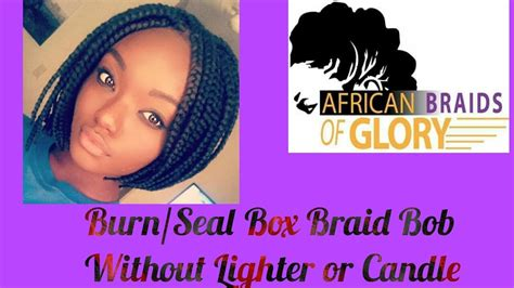 sealing ends of box braids how to seal ends of box braid bob with flat iron youtube