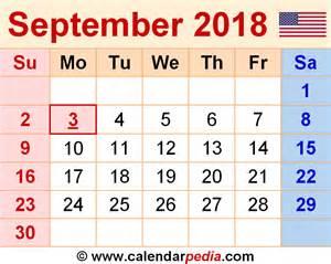 Calendar 2018 Pdf Free September 2018 Calendar Pdf Free Printable Calendars 2017