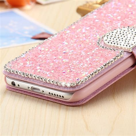 For Iphone 7 Flip Cover Wallet Stand Bling Glitt Limited luxury bling leather cards wallet flip cover for iphone 7 7 plus 6s ebay