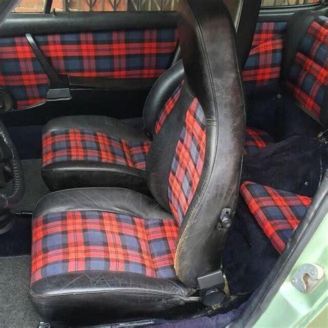 car upholstery scotland tartan outlaw interior of my lhd 75 porsche turbo