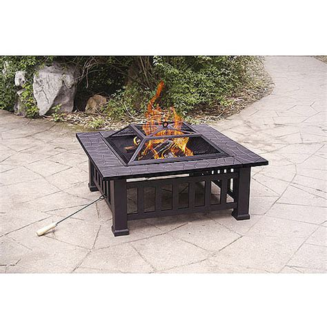 Walmart Firepits Axxonn 32 Quot Alhambra Pit With Cover Walmart