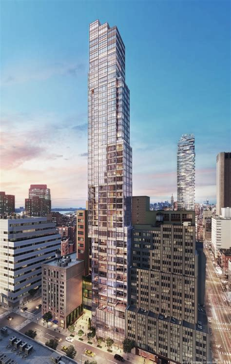 The Place York Reveal For 43 Story 667 Foot Condo Tower At 45 Park Place Tribeca New York Yimby