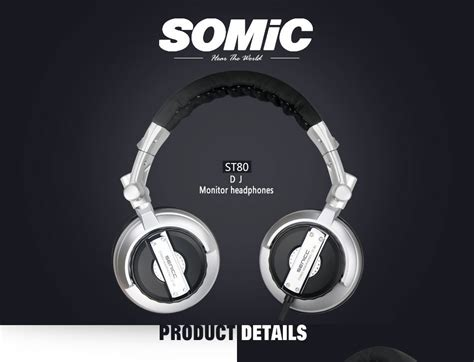 Senicc Foldable Hifi Gaming Headphones Bass Murah somic st 80 foldable stereo headphone noise cancelling computer professional dj subwoofer