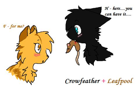 Crowfeather and Leafpool by Tigercaramelrecinos on DeviantArt Leafpool And Crowfeather Mating