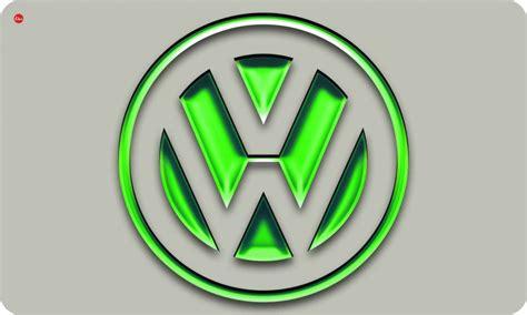 volkswagen logo no futuristic vw logo rectangular table green