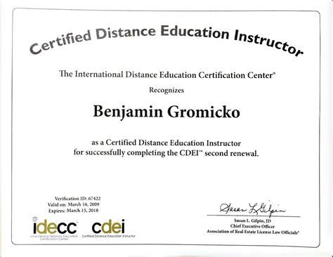 ben gromicko int l association of certified home