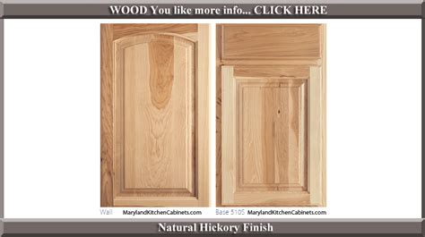 Kitchen Cabinet Door Finishes 511 Hickory Cabinet Door Styles And Finishes Maryland Kitchen Cabinets Discount Kitchen