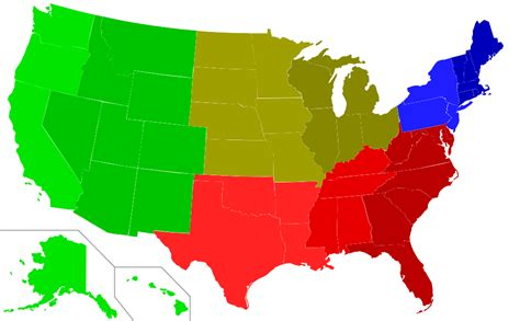 map of the united states regions 8 regions of the united states map