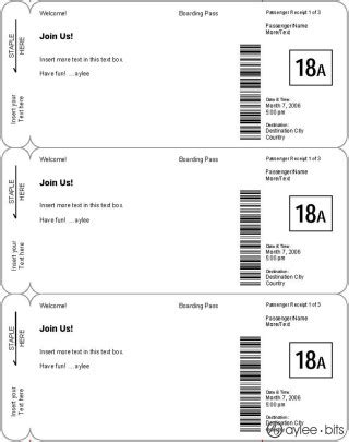 boarding card template word diy boarding pass invitation save the date aylee bits