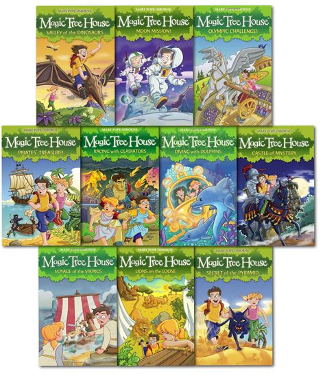 magic tree house series magic tree house series children collection 10 books set by mary pope osborne ebay