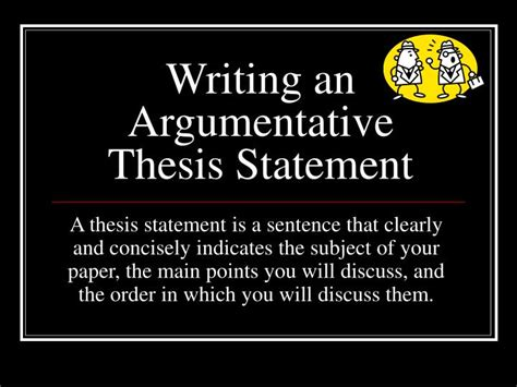 argument thesis statement ppt writing an argumentative thesis statement powerpoint