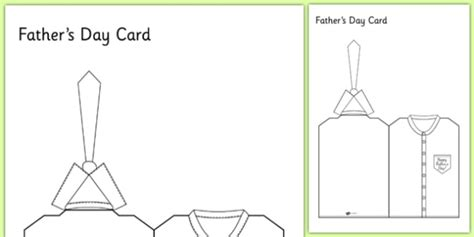 s day tie card template fathers day shirt and tie card card template fathers