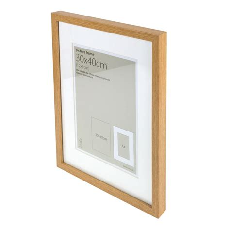 30 By 40cm Frame by Hobbycraft Oak Effect Wood Photo Picture Poster