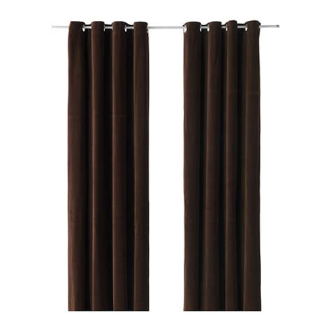 dark brown curtains sanela curtains 1 pair ikea