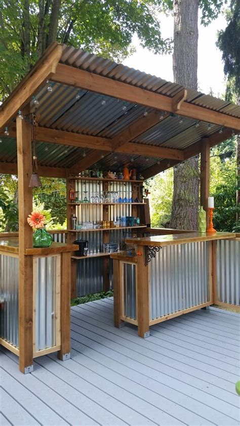 build a backyard bar diy how to build a shed backyard bar metal panels and