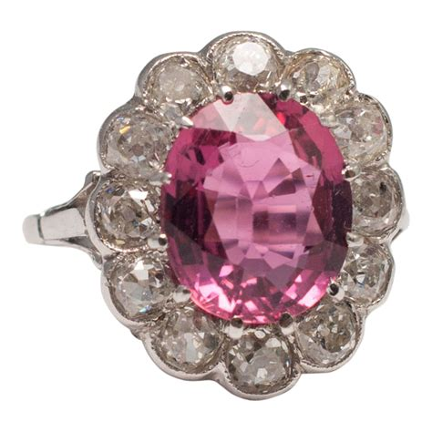 Tourmaline Pink Tourmaline pink tourmaline cluster ring from plaza jewellery
