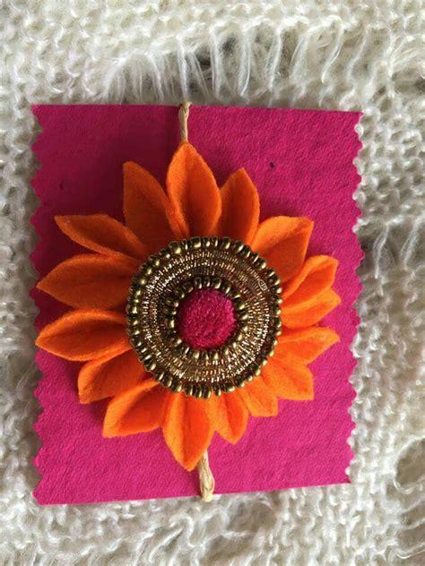 Handmade Rakhi Designs - floral handmade rakhi handcrafted rakhis