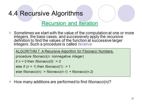 What Is The Base In The Recursive Algorithm For A Binary Search Of A Sorted Array Chapter 4 Induction And Recursion Ppt