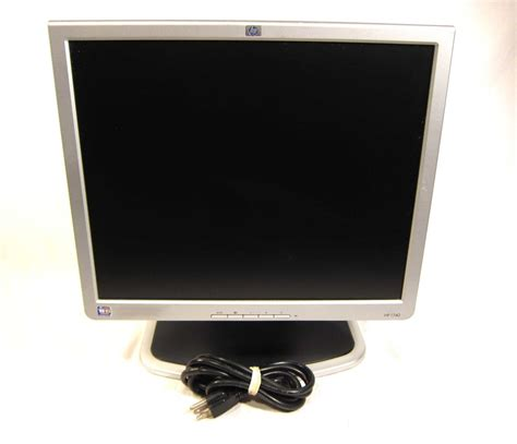 Monitor Lcd Laptop hp compaq 1740 17 quot lcd flat screen computer monitor desktop panel vga dvi 2 usb 683728242459 ebay