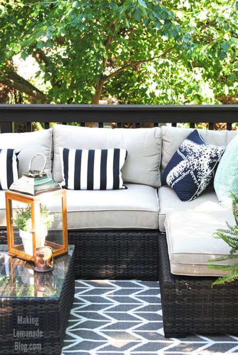 outdoor living room our outdoor living room diy deck makeover reveal
