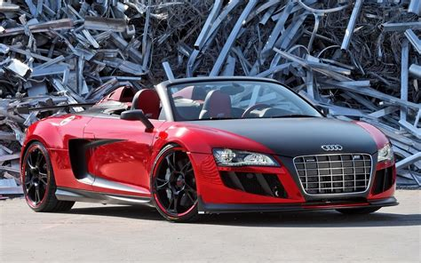 red audi r8 wallpaper red abt audi r8 gt spyder front view wallpaper car