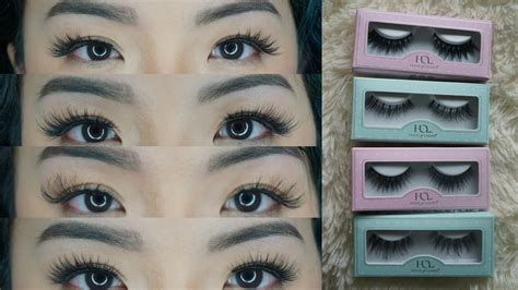 house of lashes review house of lashes try on review new mini collection noir fairy lite asian
