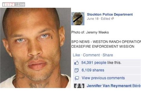 Internet Gangster Meme - the criminally good looking gangster jeremy meeks is an
